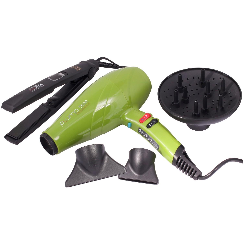 Выпрямитель волос Ga.Ma CP1 Ceramic Digital Ion Plus и фен Ga.Ma Pluma 5500 Endurance Green
